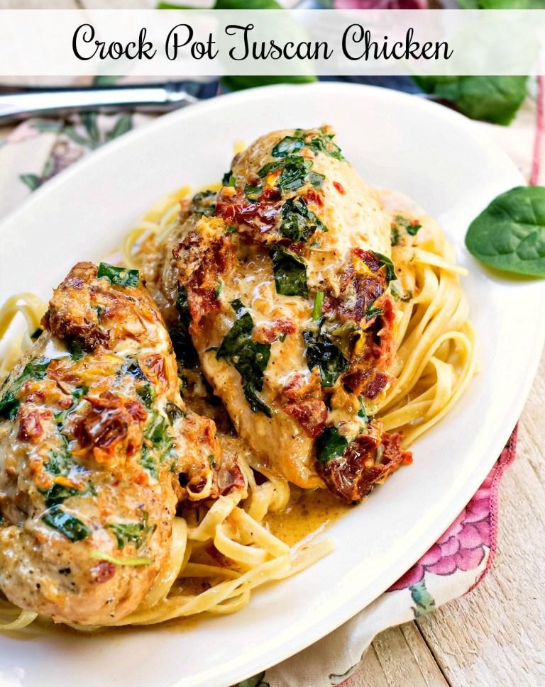 CROCK POT TUSCAN CHICKEN #Crock #Pot #Tuscan #chicken #Deleciousrecipe #Dinnerrecipe #Easyrecipe