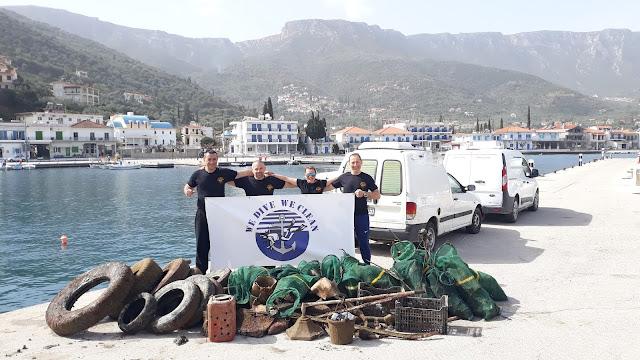 400 κιλά απορρίμματα ανέσυραν εθελοντές δύτες από το λιμάνι του Τυρού