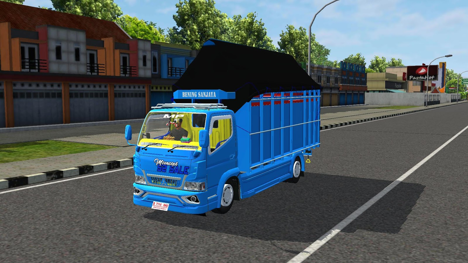 Livery Mod Truk Canter Fast Blue