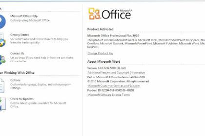 Cara Aktivasi Microsoft Office 2010 Work Dan Permanent
