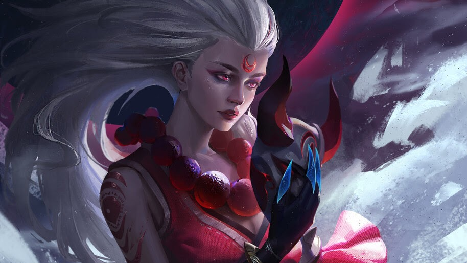 Diana Lol Blood Moon Art 4k Wallpaper 3825