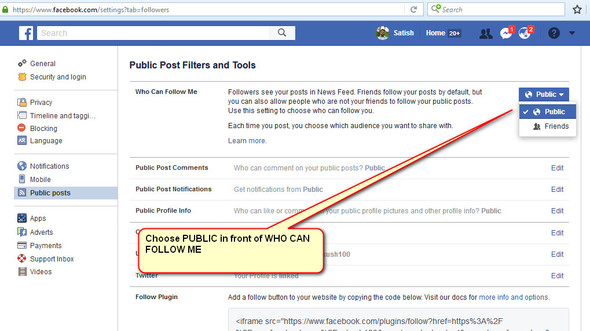 Enable Facebook Followers Count On Your Timeline 1