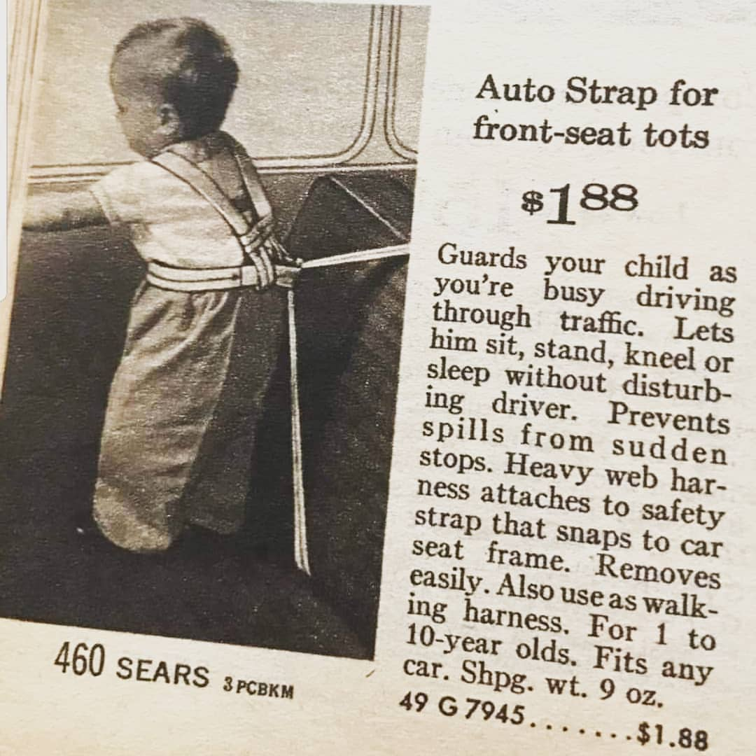 12 Strange Vintage Baby Car Seat Ads From the Mid-20th Century