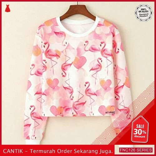 FNC126M36 Mingo Full Crop Sweater Wanita Babiterry Full Serba 40 Ribuan