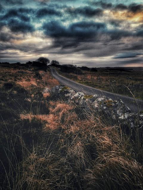 Connemara landscape, moody weather