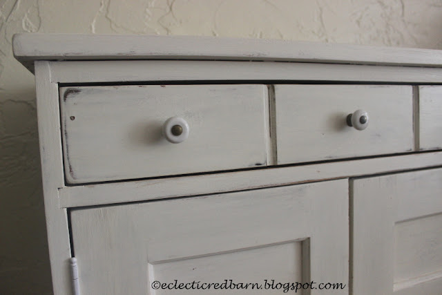 Eclectic Red Barn: Finished Cabinet with porcelain knobs