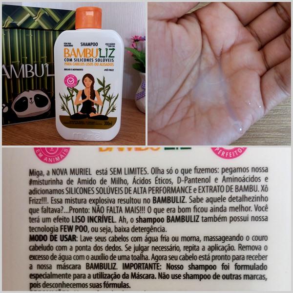 Shampoo para cabelo: Linha Bambuliz da Nova Muriel