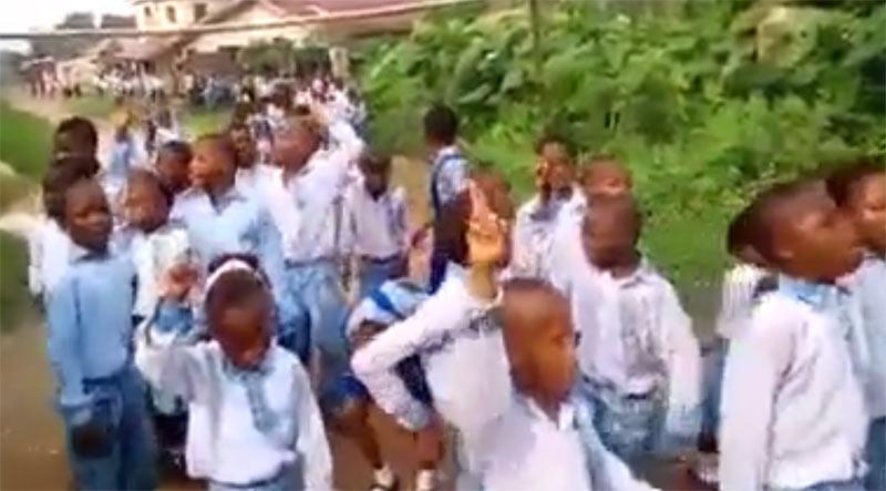 Video of school kids chanting Biafran songs on Oct 1 goes viral