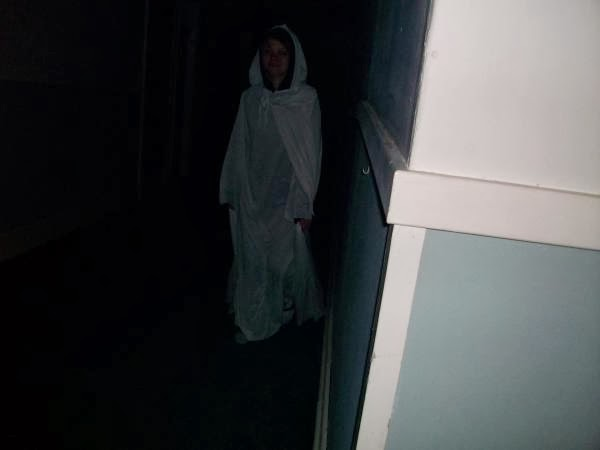 Ghost Elizabeth Floating In Hallway
