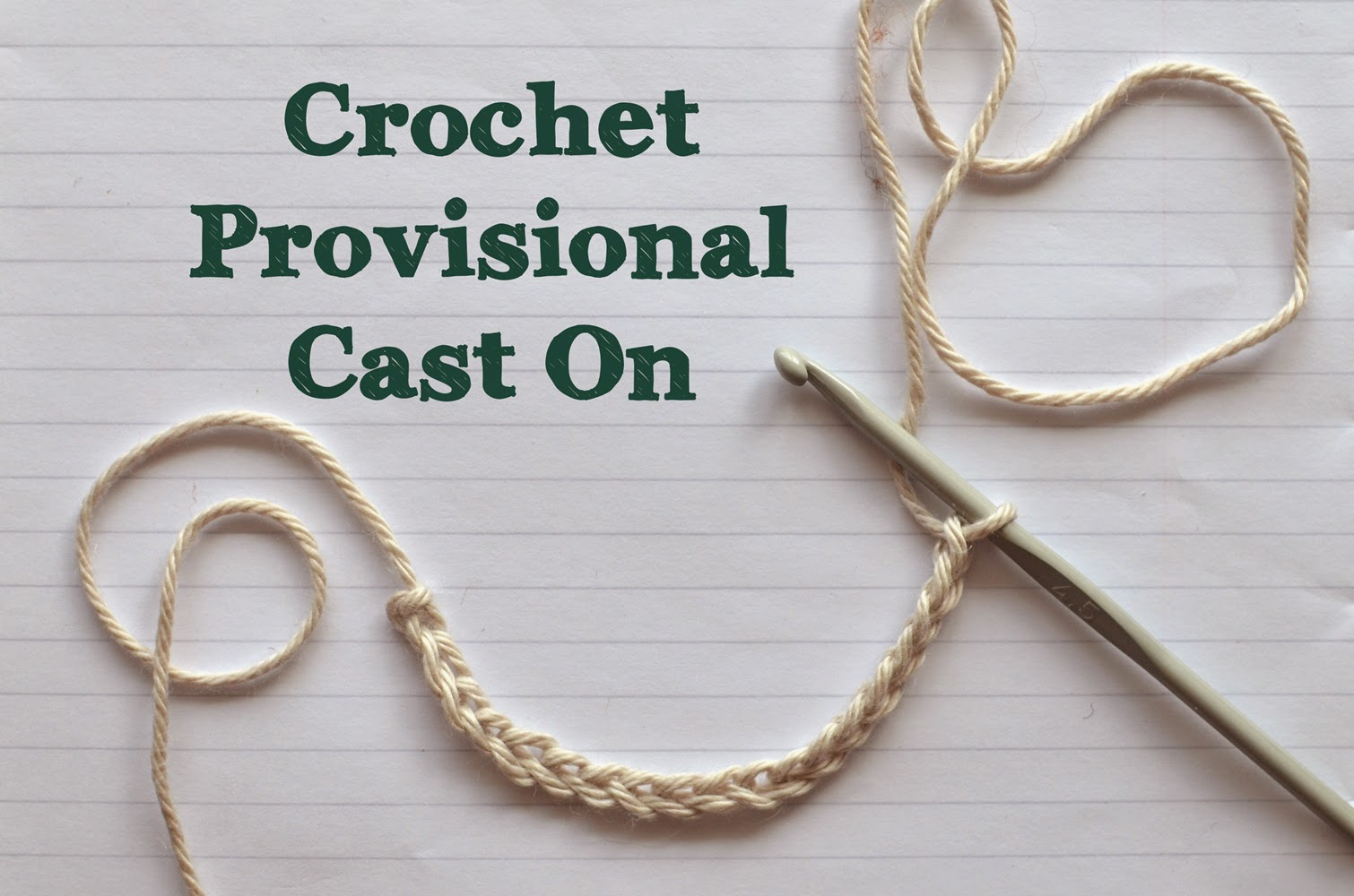 an excellent tutorial on crochet provisional cast on