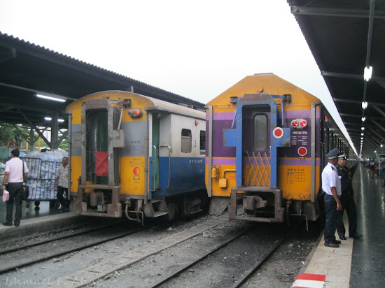 Trains at Hua Lamphong Station