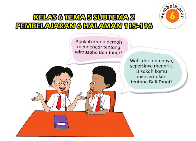 Kelas 6 Tema 5 Subtema 2 Pembelajaran 6