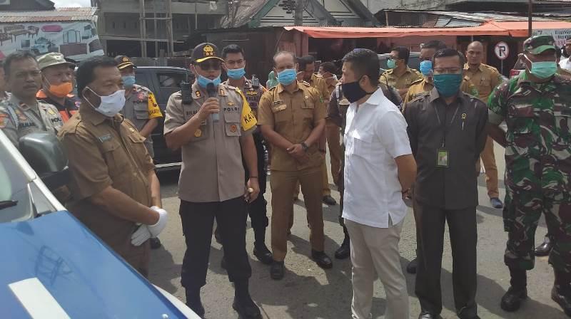 Gugus Tugas Pencegahan Covid-19 di Madina, Semprotkan Disinfektan Secara Massal