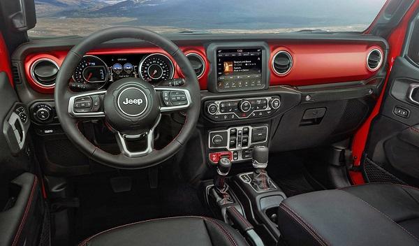 Interior Jeep Gladiator 2021