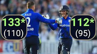 Alex Hales 133* - Jason Roy 112* - England vs Sri Lanka 2nd ODI 2016 Highlights