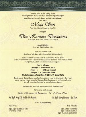 Undangan Pernikahan Termurah Erba 88166 Enha Grafika