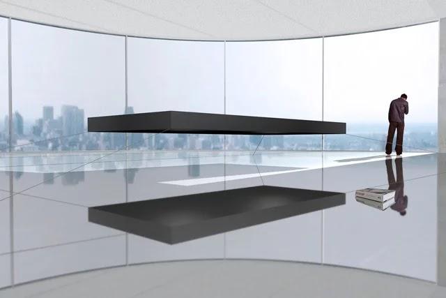 Hollandalı mobilya tasarımcısı Janjaap Rujissenaars tarafından tasarlanan yatak, donatılan mıknatıslarla yerden 40 cm havada uyuma imkanı sunuyor.