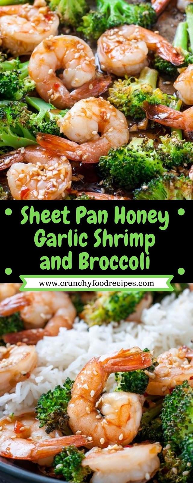 Sheet Pan Honey Garlic Shrimp and Broccoli