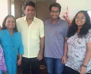 Bharat Jadhav With His Family