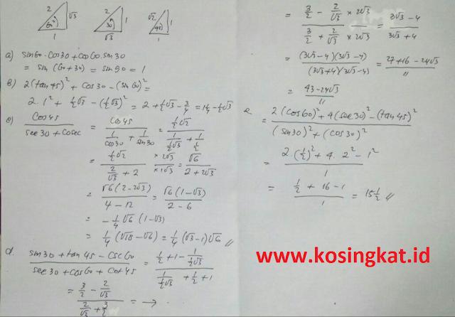 kunci jawaban uji kompetensi 4.3 matematika kelas 10 halaman 151, 152
