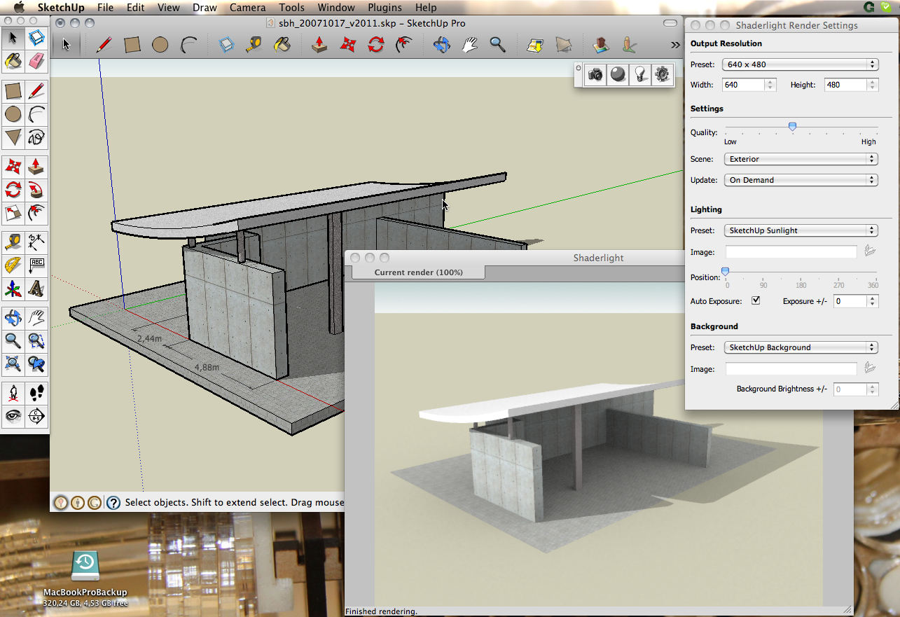 Shaderlight free pro rendering for sketchup for Rendering gratis