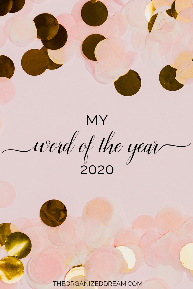 My word of the year for 2020.  #newyear #2020 #goals