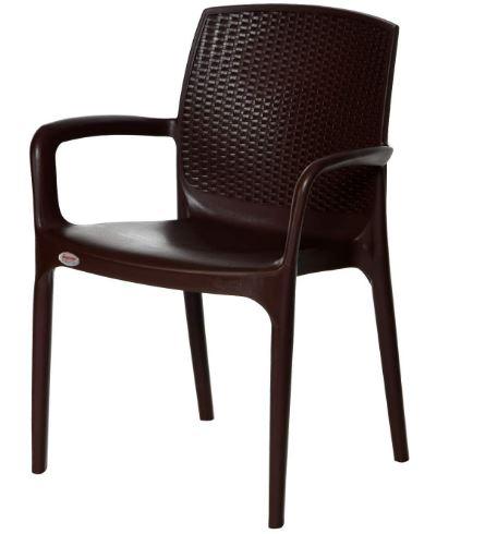 Supreme TexasWenge Chair (Plastic,Wenge,1 Piece)