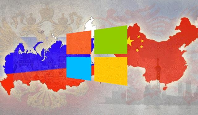 ردا على الولايات المتحدة ، الصين وروسيا تتوقف عن استخدام الويندوز