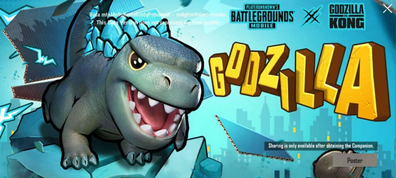 Godzilla Companion Free in Pubg Mobile