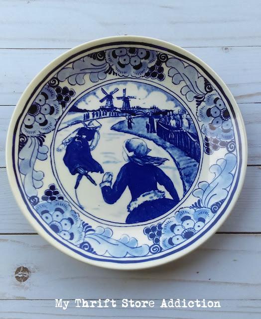 Hans Brinker The Race Delft plate