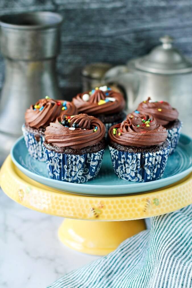 Black Irish Cholate Whiskey Cupcakes