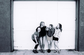 Four-Girls-Together-Black-And-White-Images