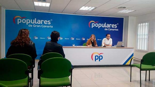 anuncio por parte del PP de la enmienda a los Presupuestos municipales de  Las Palmas de Gran Canaria