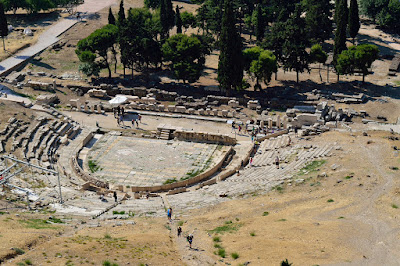 photo of an ancient theater