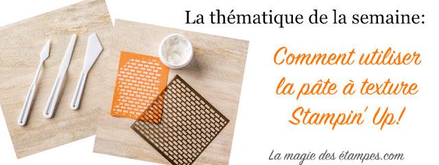 bannière pâte à texture stampinup
