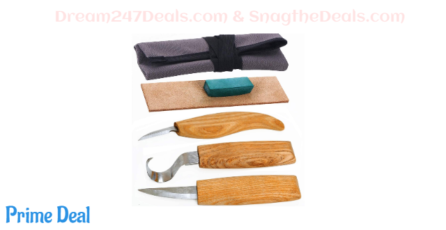 50%off Wood Carving Tools Set for Spoon Carving 3 Knives in Tools