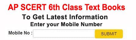 AP SCERT 6th Class Text Books