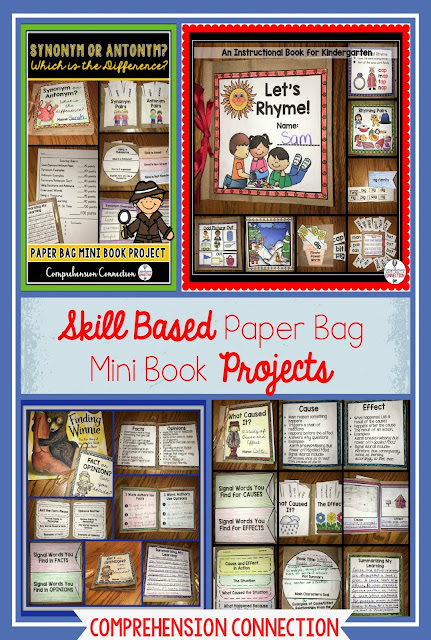 These paper bag mini books are loads of fun for your work stations or small group instruction. Build them over a week and refer to them in future lessons. Great for review.