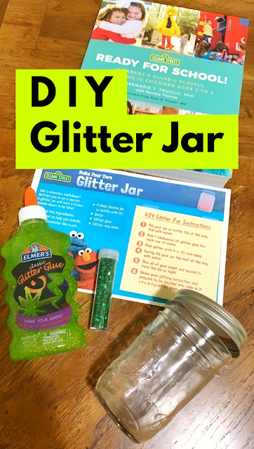 DIY Glitter Jar to Discuss Feelings - Sesame Street - Indoor Craft Activity for Preschoolers