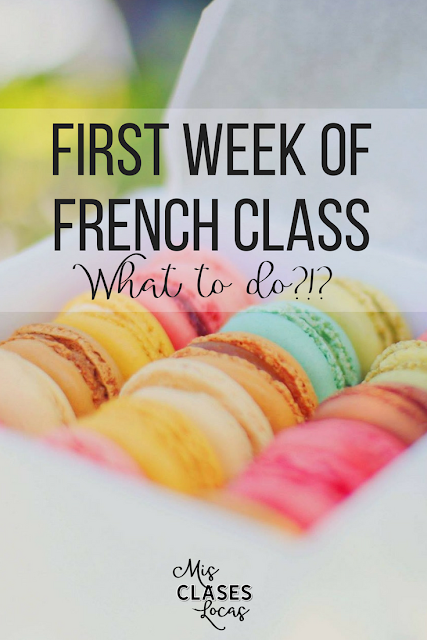 First Week of French Class - resources to start the year