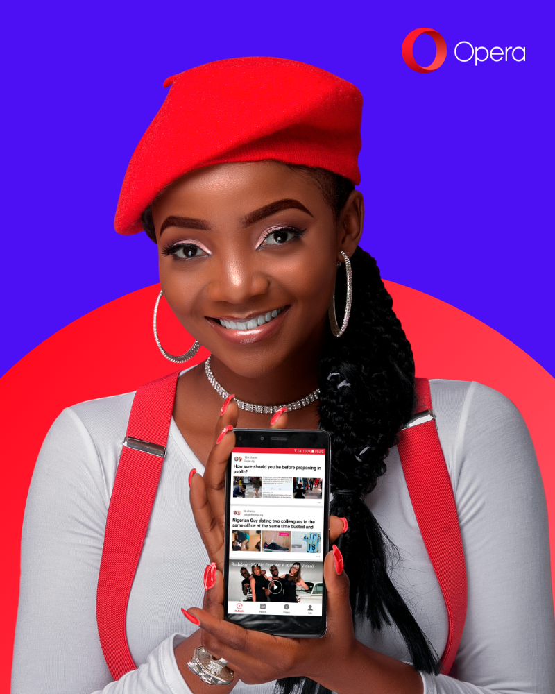 Singer Simi Unveiled As New Brand Ambassador For Opera Nigeria