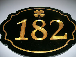 placa de número da casa