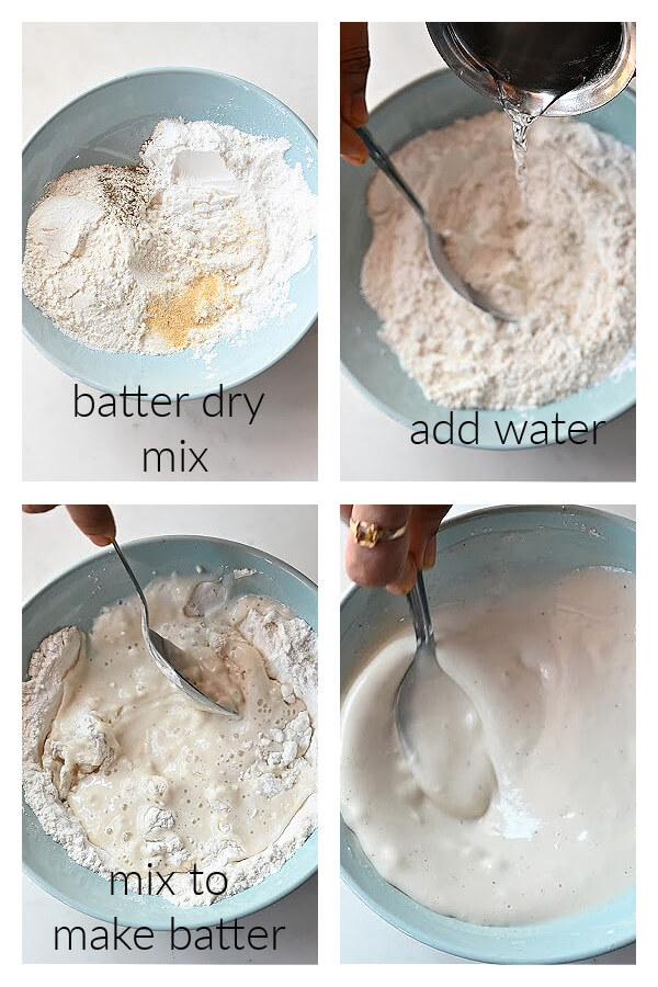 steps to make batter for orange cauliflower