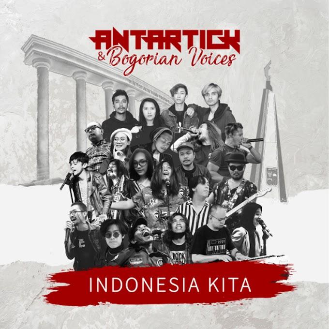 Antartick dan para musisi asal kota Hujan, Bogor yang dinamai Bogorian Voice lewat single teranyar mereka, 'Indonesia Kita'.