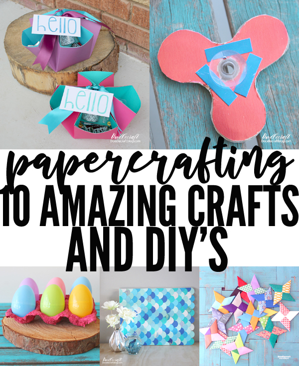 Brightly colored paper crafts in a 10 post round up.