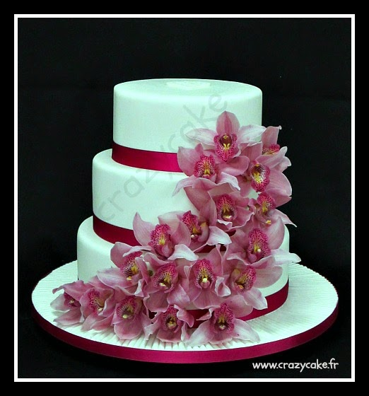 Wedding Cake Papillon Orchidee