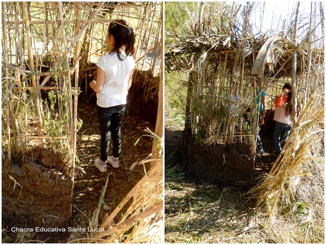 Construir y entrar en una vivienda guaraní - Chacra Educativa Santa Lucía