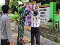 Tiga Pilar Kedungsumber Temayang, Pasang Banner Himbauan Pencegahan Covid-19