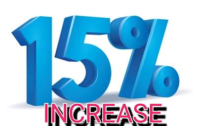 Teachers salary increase by fifteen percent