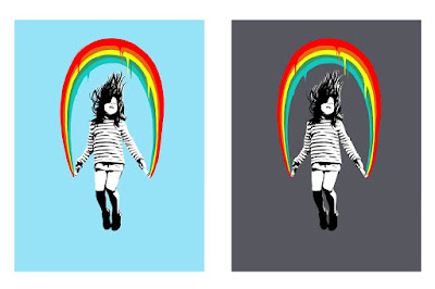 Skipping Girl Screen Print by Ubik x Bottleneck Gallery